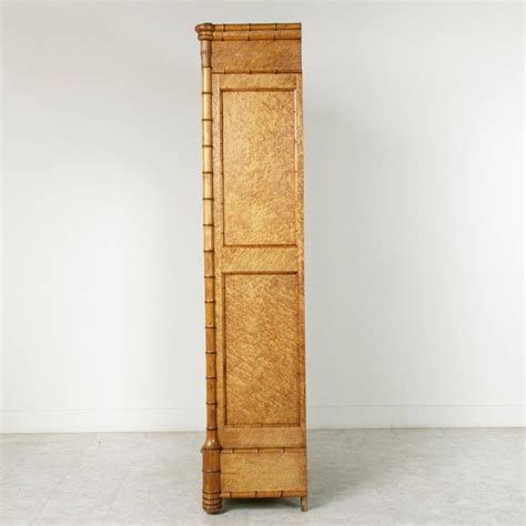 Maple Armoire by Antique Birds Eye Maple And Faux Bamboo Armoire At 1stdibs