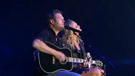 shelton country on the radio captured in the live shelton joins miranda lambert for duet of his song
