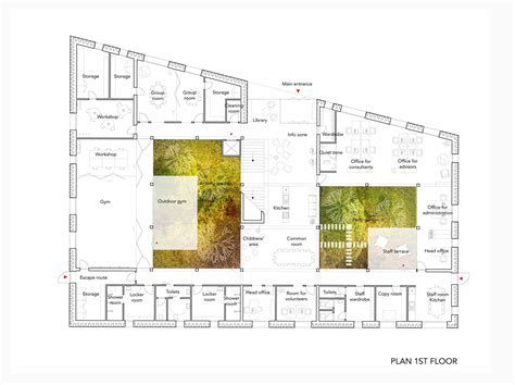 Large Floor Plans gallery of oasis cancer care center we architecture 10