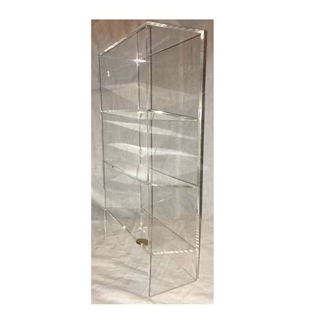 1 high gloss clear acrylic display with 3 tilted