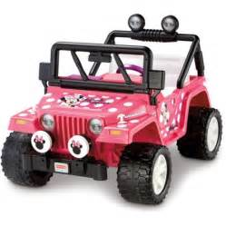 Minnie Mouse Jeep Power Wheels Fisher Price Power Wheels Disney Minnie Mouse Jeep 12 Volt