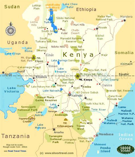 map of kenya africa kenya map