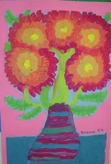 Bilder Selber Malen 3721 by Gogh Inspired Flowers In Vases Malen Und Zeichnen