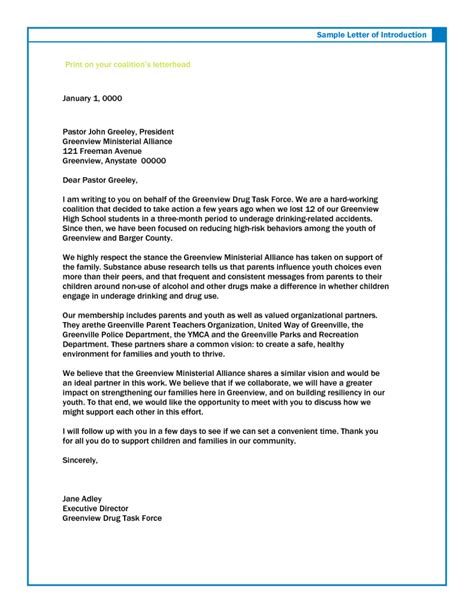 Introduction Letter To Employer sle introductory letter for employment study plan