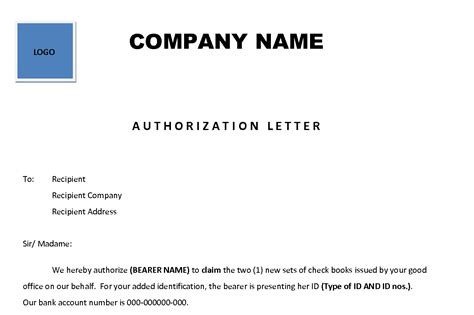 Authorization Letter Between Two Companies Authorization Letter Enkivillage