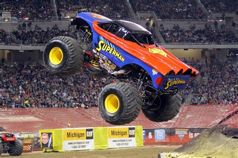 superman monster truck videos monster trucks hit uae this weekend video motoring