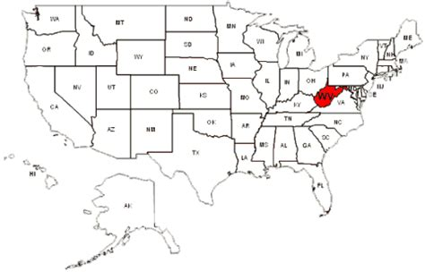map united states showing west virginia redefining the of top 10 places in west