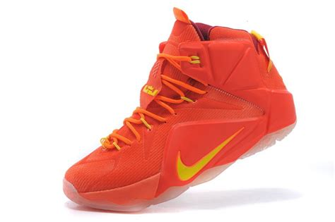 nike basketball shoes cheap cheap nike lebron 12 yellow basketball shoes on