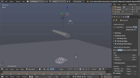 blender quick tutorial how to simulate ropes noodles and strings in blender