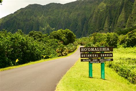 Ho Omaluhia Botanical Garden by Ho Omaluhia Botanical Garden Entry Sign Daniel Ramirez Flickr