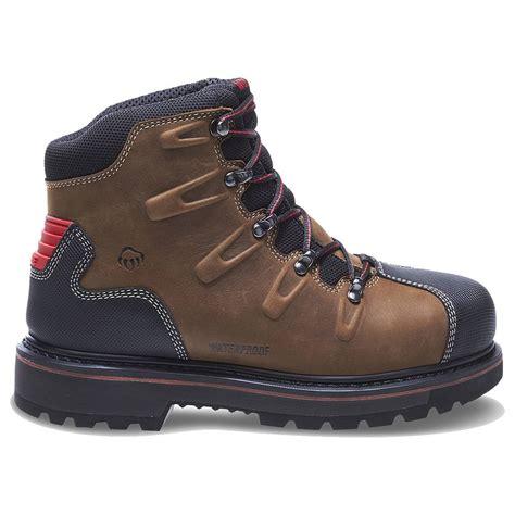 wolverine work boots wolverine mens hacksaw waterproof steel toe eh 6 quot work