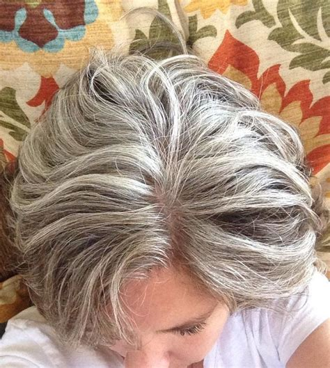 how to do reverse frosting on grey hair gray frosting on brown hair frosted hair on pinterest