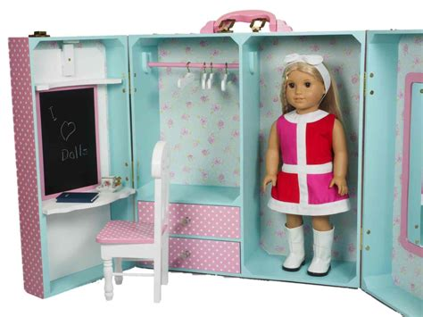 18 doll storage pink bedroom trunk furniture for 18 dolls american 168