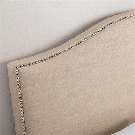 linen headboard queen abbyson living ranta linen upholstered full queen