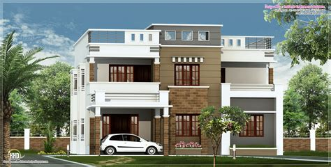 kerala home design flat roof elevation 2600 sq feet flat roof villa elevation kerala home
