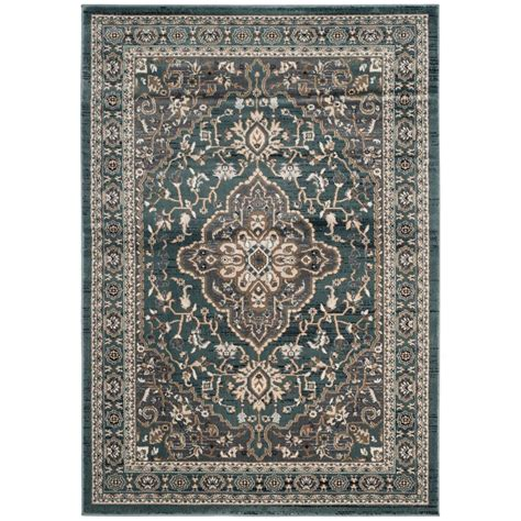 Grey And Teal Area Rug Safavieh Lyndhurst Teal Gray 6 Ft X 9 Ft Area Rug Lnh338a 6 The Home Depot
