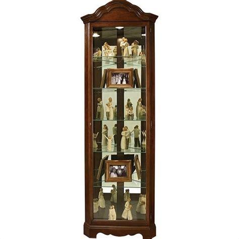 howard miller murphy corner curio cabinet in cherry