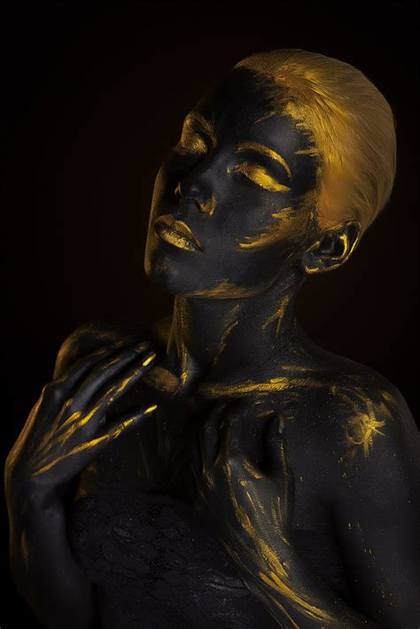 how to create a stylish black and gold 3d text effect in black gold body art by afemera on deviantart