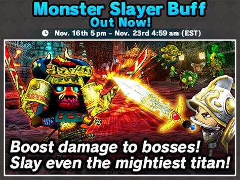 Slayer Buff get slayer buff gems november 16th november 23rd happy wars