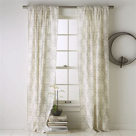 Window Panel Curtains Carved Circles Window Panel Modern Curtains By West Elm
