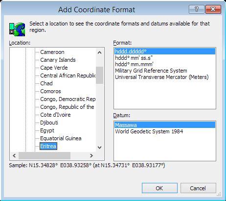 coordinates format converter convert eritrea coordinates