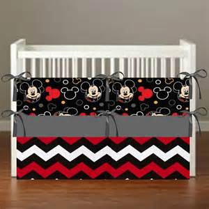 Mickey Mouse Theme Crib Bedding Nursery Decor 3 By