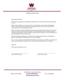Business Letters Of Introduction Sample Business Introduction Letter Free Business Template