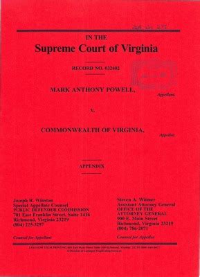 Virginia Va Court Records Virginia Supreme Court Records Volume 268 Virginia Supreme Court Records