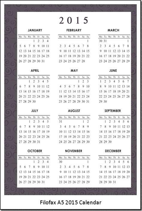 printable calendar a5 p s it s heartmade free printable 2015 calendar