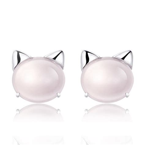 Meow Earrings get meow gem stud earrings at best cat gift store