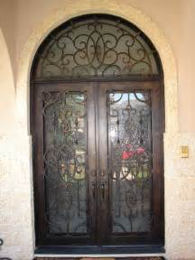 Cheap Mobile Home Exterior Doors - wrought iron entry door rot 015 interior double doors and beautiful iron transom with glass in