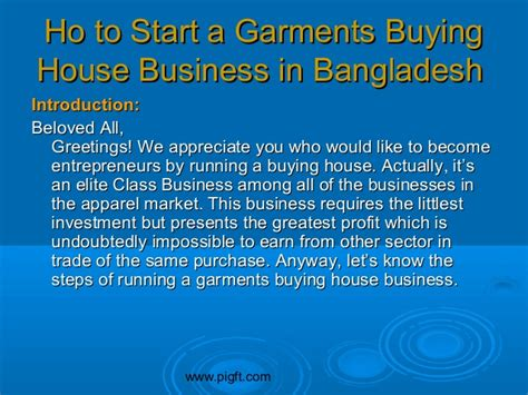 how to start buying a house how to start a garments buying house business in bangladesh