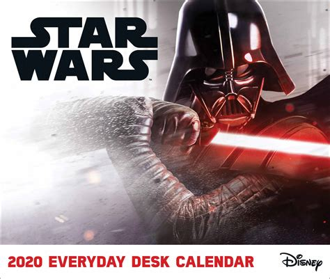 star wars official desk calendar   calendar club