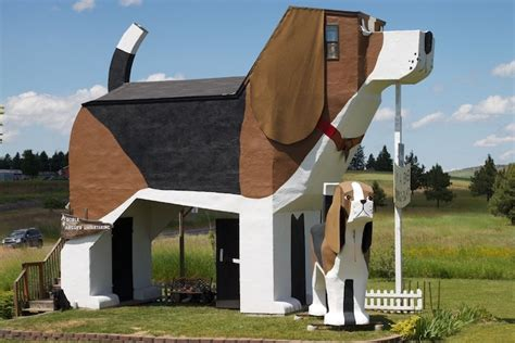 quirky hotel in idaho shaped like a dog my modern met