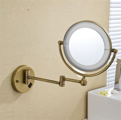 led gold brass cosmetic mirror wall mounted bathroom led antique brass cosmetic mirror wall mounted bathroom
