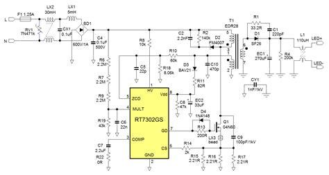 led power supply circuit diagram led power supply circuit diagram circuit and schematics