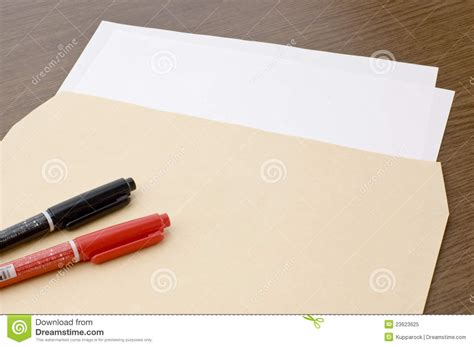 Pen Paper Royal Envelope blank paper and pen and brown envelope royalty free stock photo image 23623625