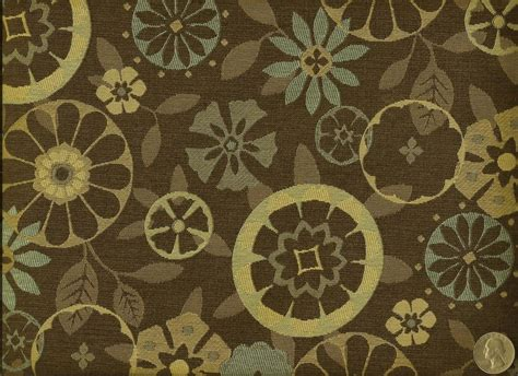 upholstery fabric retro momentum trove root mid century modern retro floral browns
