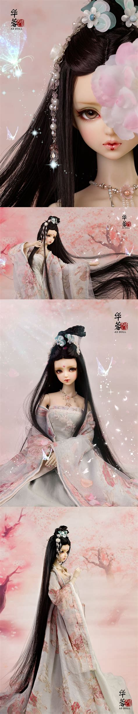 jointed doll size as agency bjd limited edition hua rong black 62cm