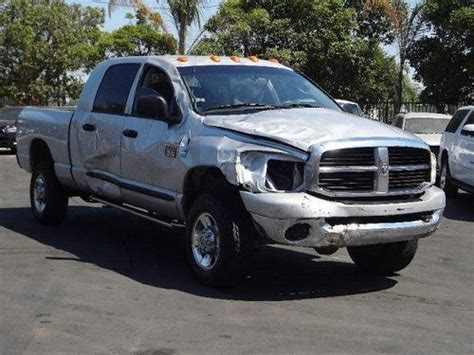 how to fix cars 2007 dodge ram 2500 engine control find used 2007 dodge ram 2500 slt mega cab 4wd damaged salvage runs manual trans rare in