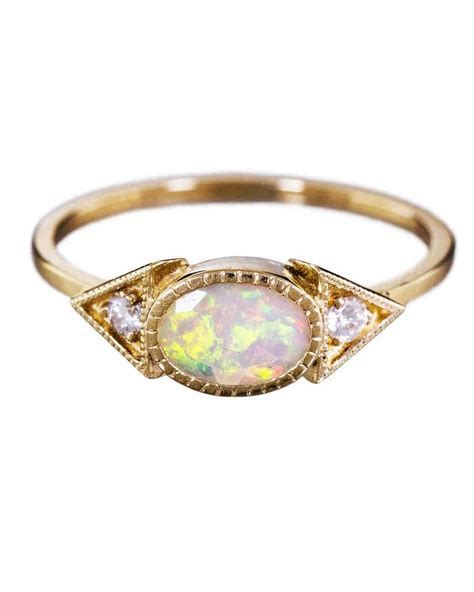 opal engagement rings that are oh so dreamy martha