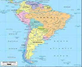 political map of south america places in