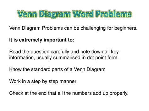 how to solve venn diagram problems venn diagram word problems