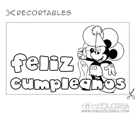 imagenes de cumpleaños para colorear e imprimir fel 237 z cumplea 241 os dibujos para descargar imprimir y