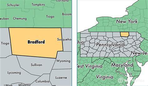 the seat towanda pa bradford county pennsylvania map of bradford county pa