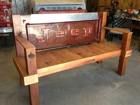 truck bench home furniture decoration benches made from tailgates