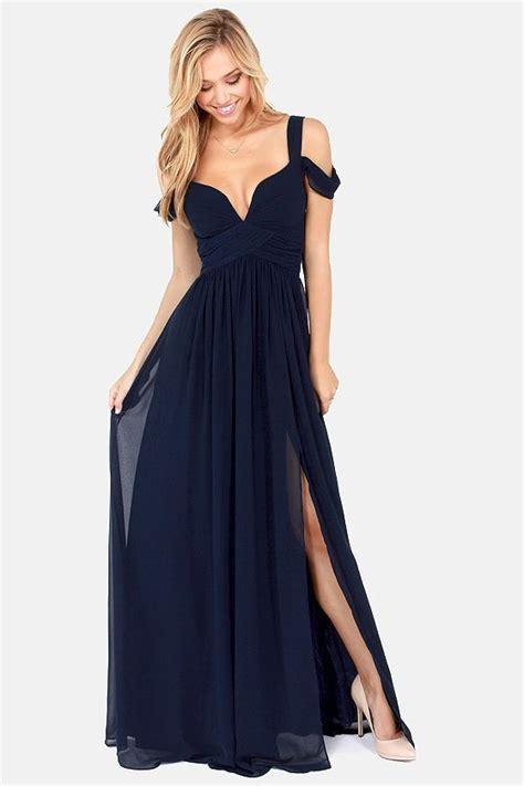 blue maxi dress shopstyle bariano of elegance navy blue maxi dress on
