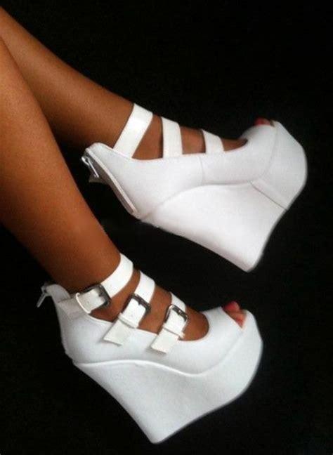 white wedge high heels shoes white high heels high heels white wedges white