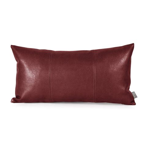 leather sofa pillows howard elliott kidney faux leather throw pillow reviews