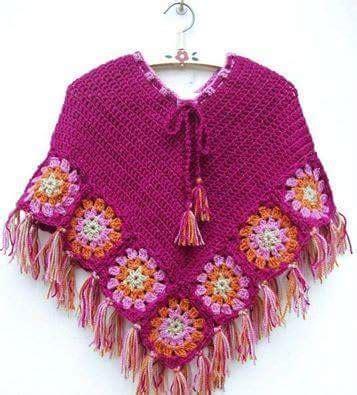 poncho para ni a en crochet y agujas circulares tricot galer 237 a 31 fotos de capas y ponchos para ni 241 as a crochet